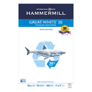 HAMMERMILL/HP EVERYDAY PAPERS HAM86750 Great White Recycled Copy Paper, 92 Brightness, 20lb, 11 X 17, 500 Sheets/ream