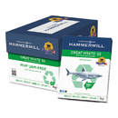 Hammermill HAM86780 Great White 50 Recycled Copy Paper, 20-Lb., 8-1/2 X 11, White, 5000/carton