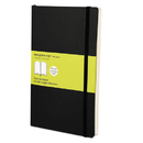 Moleskine HBGMSL17 Classic Softcover Notebook, Plain, 8 1/4 X 5, Black Cover, 192 Sheets