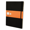 Moleskine HBGMSX14 Classic Softcover Notebook, Ruled, 10 X 7 1/2, Black Cover, 192 Sheets