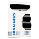 Heritage HERH5645TKR01 Accufit Low-Density Can Liners, 23 Gal, 0.9 Mil, 28 X 45, Black, 200/carton
