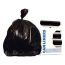 Heritage H8647UKR01 Linear Low-Density Can Liners, 56 gal, 1.6 mil, 43 x 47, Black, 100/Carton