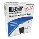 Bluecollar HERN4828EWRC1 Drawstring Trash Bags, 13gal, 0.8mil, 24 X 28, White, 80/box