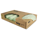 Heritage HERY8448YER01 Biotuf Compostable Can Liners, 48 Gal, 1 Mil, 42 X 48, Light Green, 100/carton