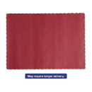 Hoffmaster HFM310521 Solid Color Scalloped Edge Placemats, 9 1/2 X 13 1/2, Red, 1000/carton