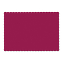 Hoffmaster HFM310524 Solid Color Scalloped Edge Placemats, 9 1/2 X 13 1/2, Burgundy, 1000/carton