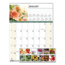 House of Doolittle HOD327 Recycled Floral Monthly Wall Calendar, 12 X 16 1/2, 2017