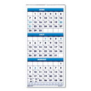 House of Doolittle 3645 Three-Month Academic Wall Calendar, 8 x 17, 14-Month (June-July), 2020-2021