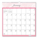 HOUSE OF DOOLITTLE HOD3671 Recycled Breast Cancer Awareness Monthly Wall Calendar, 12 X 12, 2017