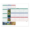 HOUSE OF DOOLITTLE HOD393 Recycled Earthscapes Nature Scene Reversible Yearly Wall Calendar, 24 X 37, 2017