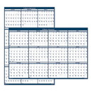 HOUSE OF DOOLITTLE HOD3961 Recycled Poster Style Reversible/erasable Yearly Wall Calendar, 32 X 48, 2017