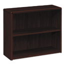 Hon HON10752NN 10700 Series Wood Bookcase, Two Shelf, 36w X 13 1/8d X 29 5/8h, Mahogany