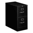 HON COMPANY HON312PP 310 Series Two-Drawer, Full-Suspension File, Letter, 26-1/2d, Black