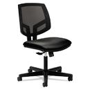 HON HON5711SB11T Volt Series Mesh Back Leather Task Chair, Black