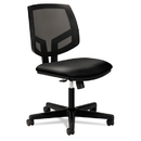 HON HON5713SB11T Volt Series Mesh Back Task Chair With Synchro-Tilt, Black Leather