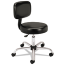 HON COMPANY HONMTS11EA11 Medical Exam Stool With Back, 24-1/4 X 27-1/4 X 36, Black