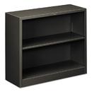 HON COMPANY HONS30ABCS Metal Bookcase, Two-Shelf, 34-1/2w X 12-5/8d X 29h, Charcoal