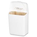 HOSPECO HOS250201W Wall Mount Sanitary Napkin Receptacle, Plastic, 1gal, White