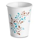 Huhtamaki HUH62909 Single Wall Hot Cups, 8 oz, Vine Design, 1,000/Carton