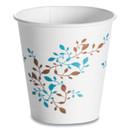Huhtamaki HUH62910 Single Wall Hot Cups 10 oz, Vine Design, 1,000/Carton
