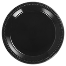 Chinet HUH81410 Heavyweight Plastic Plates, 10 1/4 Inches, Black, Round
