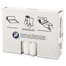 Inteplast Group IBSS334011N High-Density Can Liner, 33 X 40, 33gal, 11mic, Clear, 25/roll, 20 Rolls/carton