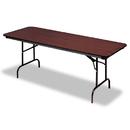 ICEBERG ENTERPRISES ICE55224 Premium Wood Laminate Folding Table, Rectangular, 72w X 30d X 29h, Mahogany