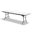 ICEBERG ENTERPRISES ICE55227 Premium Wood Laminate Folding Table, Rectangular, 72w X 30d X 29h, Gray/charcoal
