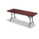 ICEBERG ENTERPRISES ICE55234 Premium Wood Laminate Folding Table, Rectangular, 96w X 30d X 29h, Mahogany