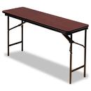 ICEBERG ENTERPRISES ICE55274 Premium Wood Laminate Folding Table, Rectangular, 60w X 18d X 29h, Mahogany