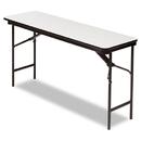 ICEBERG ENTERPRISES ICE55277 Premium Wood Laminate Folding Table, Rectangular, 60w X 18d X 29h, Gray/charcoal