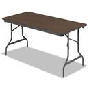 ICEBERG ENTERPRISES ICE55314 Economy Wood Laminate Folding Table, Rectangular, 60w X 30d X 29h, Walnut