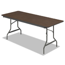 ICEBERG ENTERPRISES ICE55324 Economy Wood Laminate Folding Table, Rectangular, 72w X 30d X 29h, Walnut