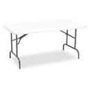 ICEBERG ENTERPRISES ICE65213 Indestructables Too 1200 Series Resin Folding Table, 60w X 30d X 29h, Platinum