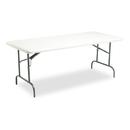 ICEBERG ENTERPRISES ICE65223 Indestructables Too 1200 Series Resin Folding Table, 72w X 30d X 29h, Platinum