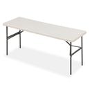 ICEBERG ENTERPRISES ICE65383 Indestructables Too 1200 Series Resin Folding Table, 72w X 24d X 29h, Platinum