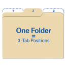 IDEASTREAM CONSUMER PRODUCTS IDEFT07046 Findit File Folders, 1/3 Cut, 11 Pt Stock, Letter, Manila, 80/pack