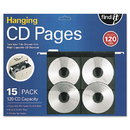 Find It IDEFT07069 Hanging Cd Pages, 15/pack