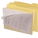 find It IDEFT07186 Clear View Interior File Folders, 1/3 Cut Top Tab, Letter, Manila, 8/pack