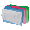 find It IDEFT07187 Clear View Interior File Folders, 1/3 Cut Top Tab, Letter, Assorted, 6/pack