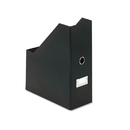 Snap-N-Store IDESNS01637 Heavy-Duty Fiberboard Magazine File With Pvc Laminate, 4 1/2 X 11 X 13, Black