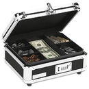 IDEASTREAM CONSUMER PRODUCTS IDEVZ01002 Plastic & Steel Cash Box W/tumbler Lock, Black & Chrome