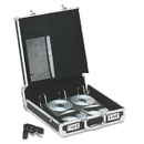 IDEASTREAM CONSUMER PRODUCTS IDEVZ01076 Vaultz Locking Media Binder, Holds 200 Disks, Black