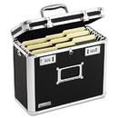 IDEASTREAM CONSUMER PRODUCTS IDEVZ01187 Locking File Tote Storage Box, Letter, 13-3/4 X 7-1/4 X 12-1/4, Black