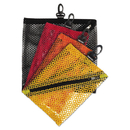 Vaultz IDEVZ01211 Vaultz Mesh Storage Bags, Black; Orange; Red; Yellow