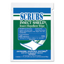 SCRUBS ITW91401 Insect Shield Insect Repellent Wipes, 8 x 10, White, 100/Carton