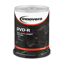 Innovera IVR46890 Dvd-R Discs, 4.7gb, 16x, Spindle, Silver, 100/pack