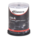 Innovera IVR77990 Cd-R Discs, 700mb/80min, 52x, Spindle, Silver, 100/pack