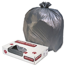 UNISAN JAGG3858G Low-Density Commercial Can Liners, 60gal, 1.3mil, Gray, 100/carton
