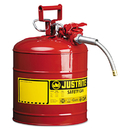 Justrite JUS7250120 Accuflow Safety Can, Type Ii, 5gal, Red, 5/8